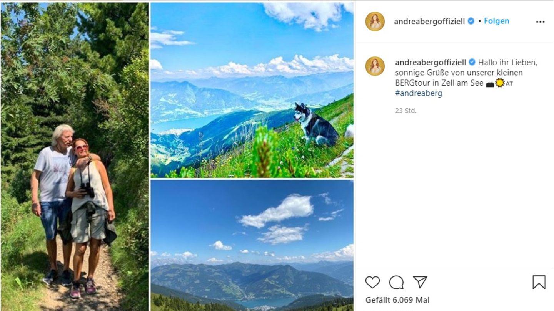 """Andrea Berg macht mit ihrem Mann eine """"Bergtour"""""""