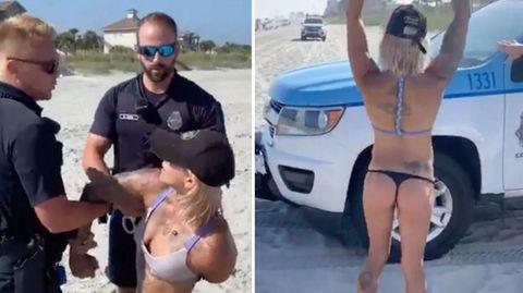 Frau wird aufgrund ihres Bikinis festgenommen