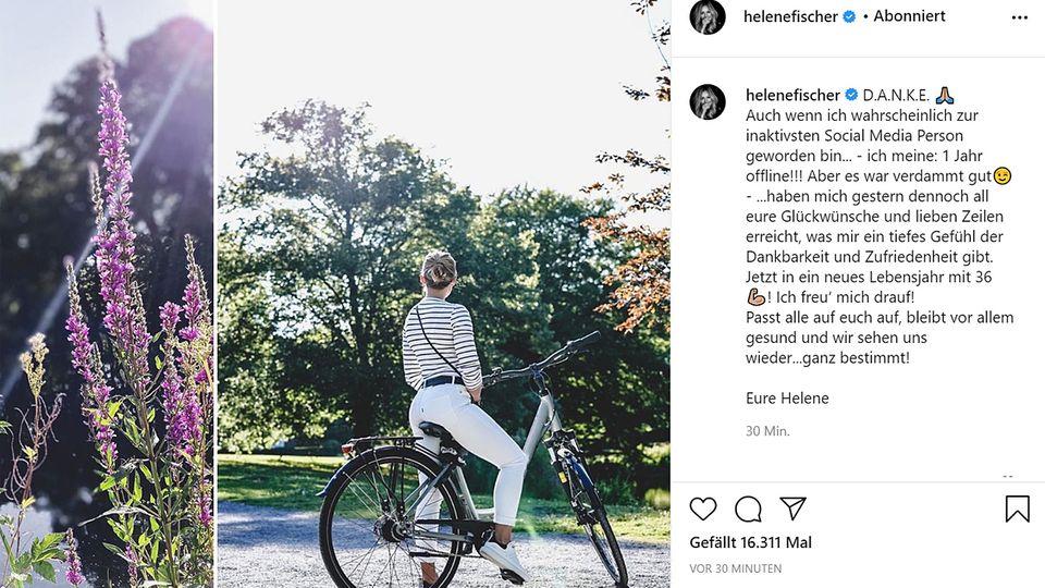 Helene Fischer meldet sich auf Instagram zurück