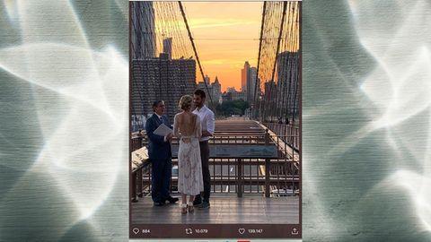 Private Hochzeit auf der Brooklyn Bridge in New York
