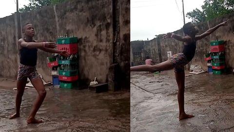 Barfuß im Regen: 11-Jähriger tanzt wie ein Profi – und erhält Stipendium
