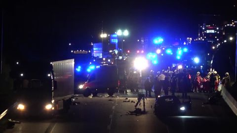 A 14 bei Magdeburg: Zwei Tote bei Unfall durch Falschfahrer