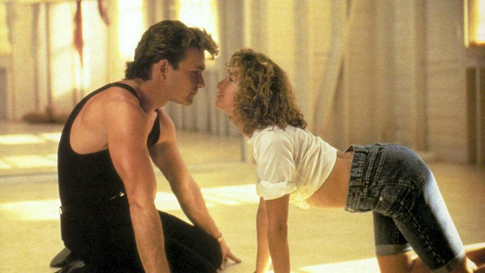 """Dirty Dancing"" mit Patrick Swayze als Johnny Castle und Jennifer Grey als ""Baby""."