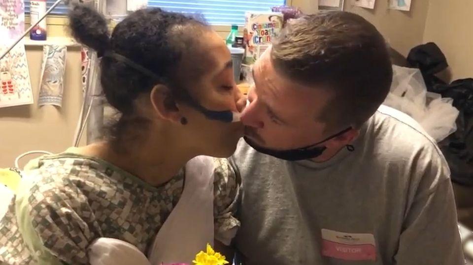 USA: Leukämie-Patientin heiratet auf dem Krankenbett