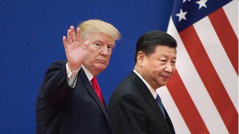 US-Präsident Donald Trump (l.) und Chinas Staatschef Xi Jinping