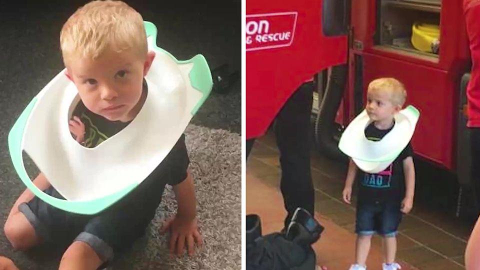 Zweijähriger steckt in Klobrille fest – helfen kann nur die Feuerwehr