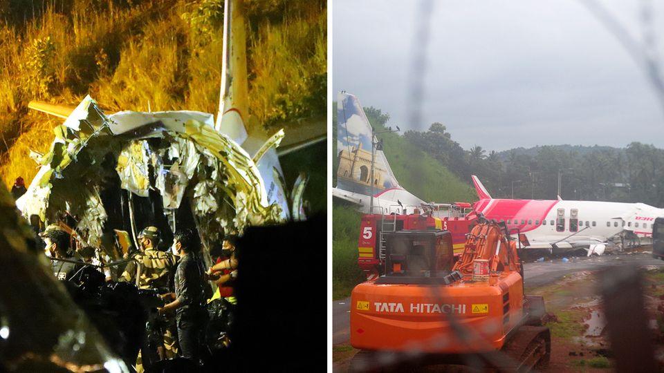 Mindestens 18 Tote bei Flugzeugunglück in Indien