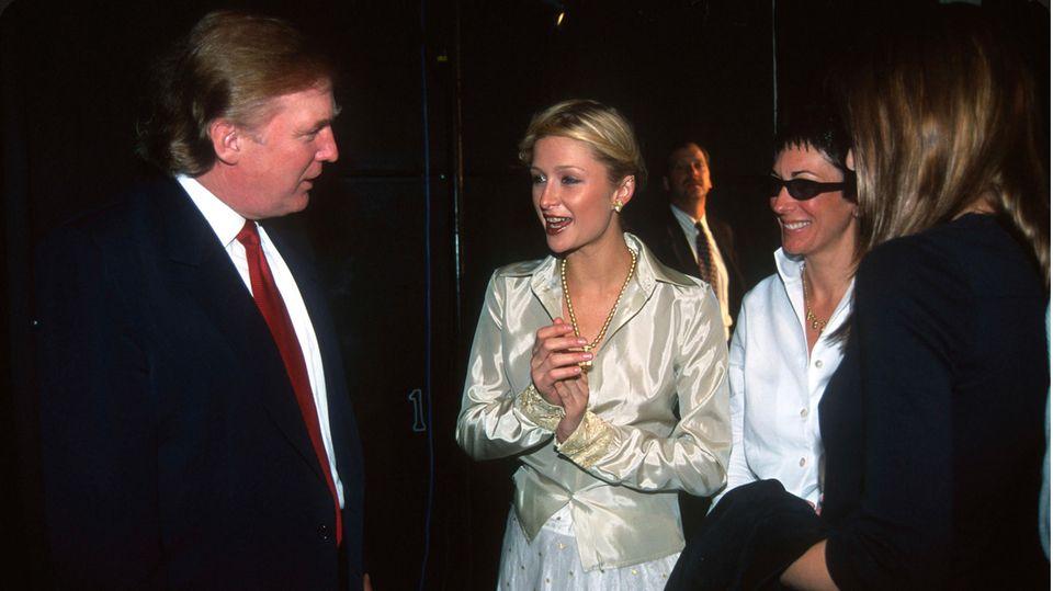 Donald Trump, Paris Hilton, Ghislaine Maxwell