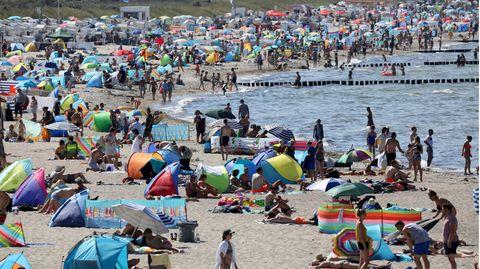 News: Ostsee-Strände überfüllt