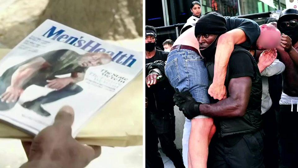 Patrick Hutchinson rettete einem rechten Demonstranten das Leben – jetzt wird er zum Cover-Star