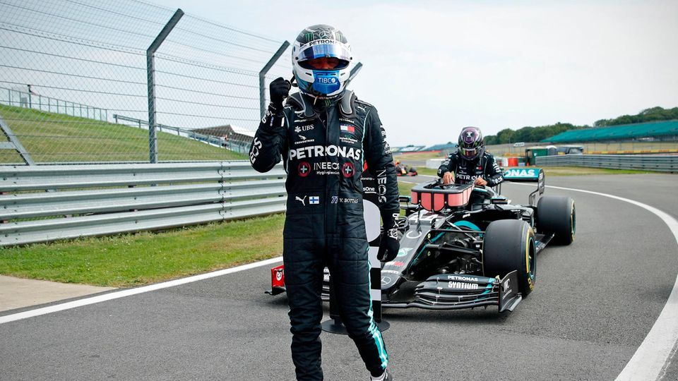 Valtteri Bottas war im Qualifying in Silverstone diesmal schneller als Lewis Hamilton