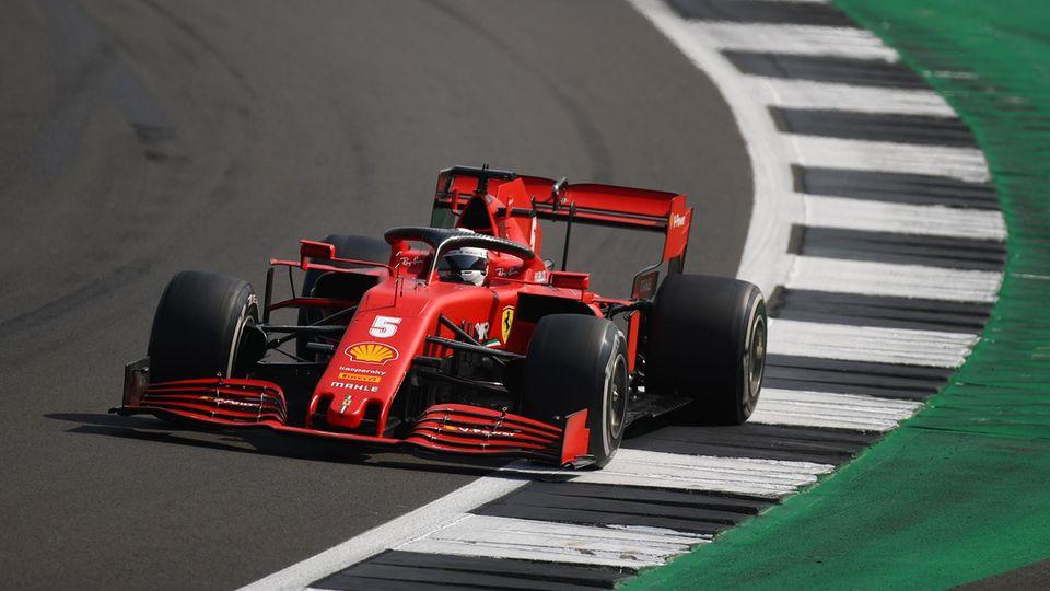 Die Irrfahrt von Sebastian Vettel im Ferrari ging auch in Silverstone weiter