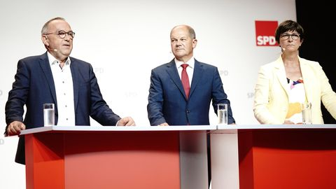 SPD-Pressekonferenz in Berlin