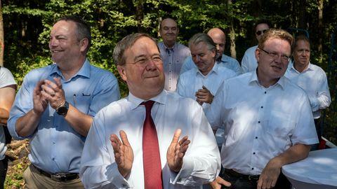 Nordrhein-Westfalens Ministerpräsident Armin Laschetzu Besuch bei der CDU Ruhr