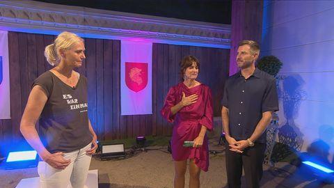 Claudia Kohde-Kilsch mit den Moderatoren Marlene Lufen und Jochen Schropp