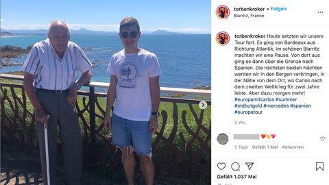 Beide Männer in Biarritz in Frankreich