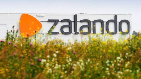 Das Logistikzentrum des deutschen Mode- und Schuhversandhändlers Zalando im Gewerbegebiet in Brandenburg