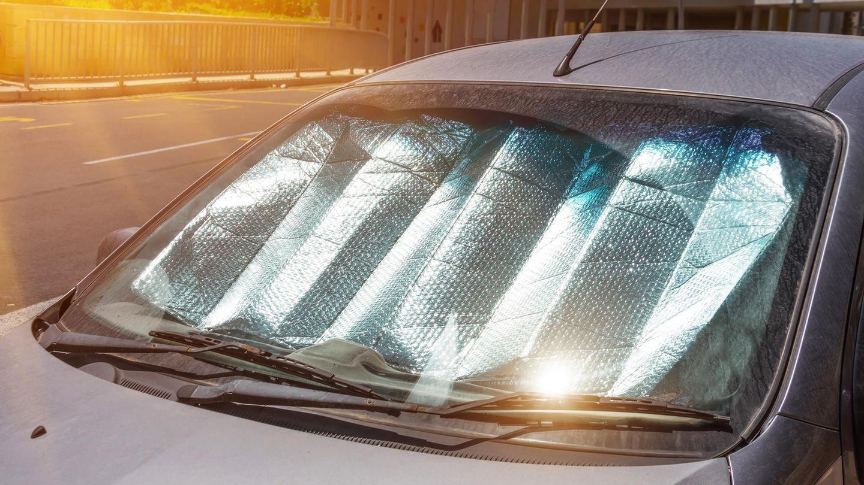 Sonne brennt auf ein Auto