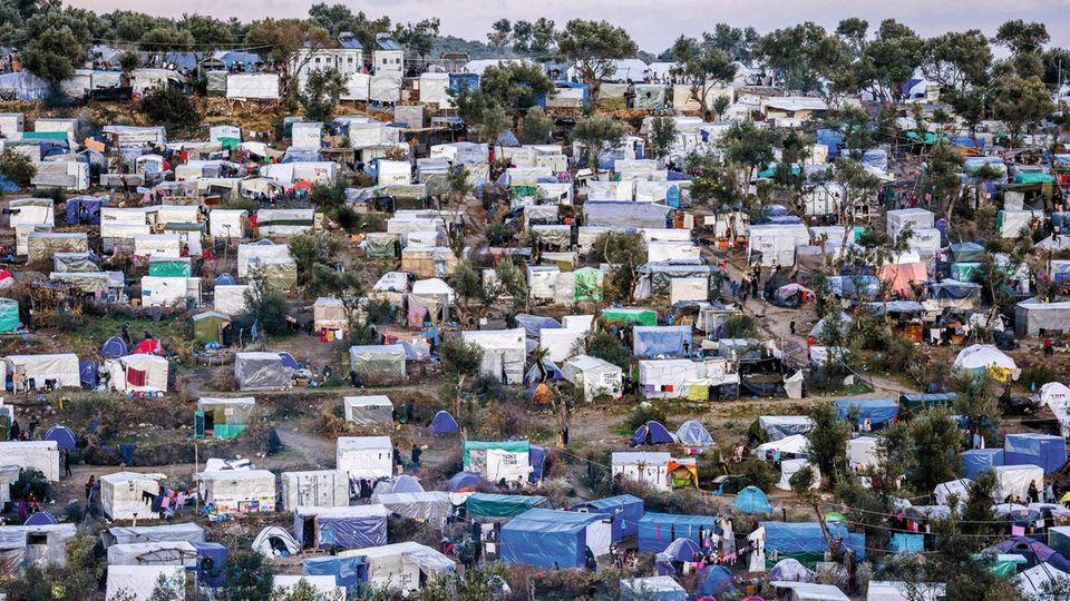Das Flüchtlingslager Moria