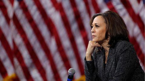 Kamala Harris, Senatorin von Kalifornien im US-Senat, und Vizekandidatin von Joe Biden