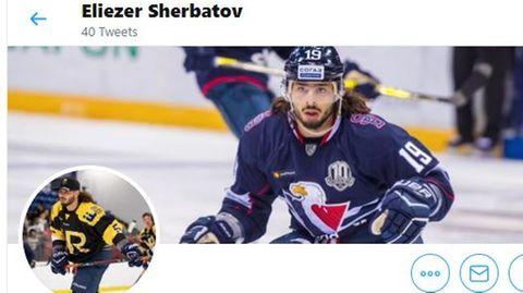"""Eliezer Sherbatov verteidigt sich gegen Kritik aus Israel: """" Mein Ziel ist es, die Meisterschaft zu gewinnen, so dass die Menschen einen jüdischen Eishockeyspieler feiern können,"""" schrieb Sherbatov auf Twitter."""