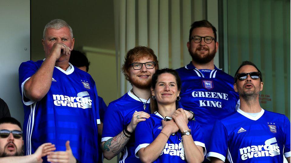 Musiker Ed Sheeran und seine Frau Cherry Seaborn