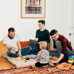 Catherine, Benjamin (links) und Christian mit ihrem Sohn
