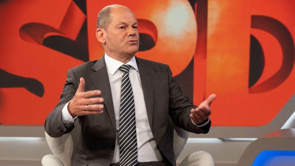 """TV-Kritik Maischberger: Olaf Scholz im Studio der ARD-Sendung """"Maischberger"""""""