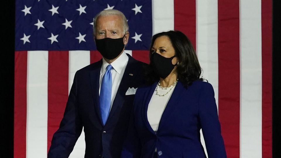 Joe Biden und Kamala Harris beim ersten gemeinsamen Wahlauftritt