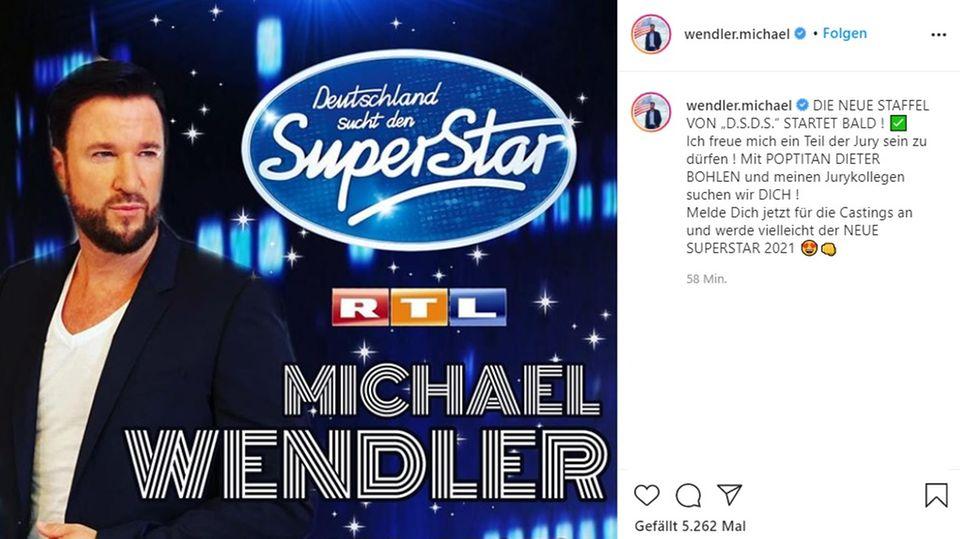 Michael Wendler wurde nun als drittes DSDS-Jurymitglied bekanntgegeben