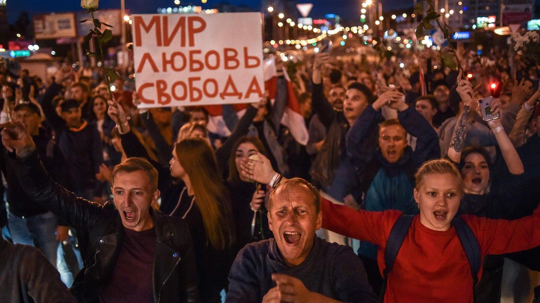 Demonstration in der Belarussischen Hauptstadt Minsk
