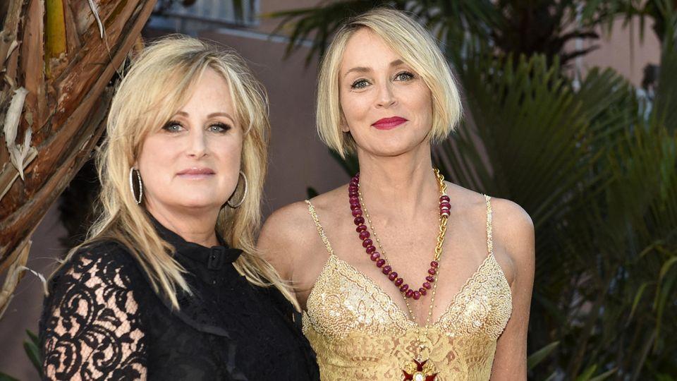 Sharon Stone und ihre Schwester Kelly im April 2017 bei einer Veranstaltung in Los Angeles