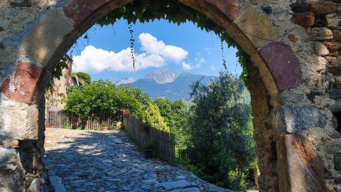 Südtirol ist wunderschön. Hier der Blick auf die Berge