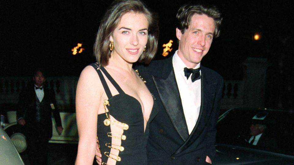 """Liz Hurley und Hugh Grant kommen zur Premiere von """"Vier Hochzeiten und ein Todesfall"""""""