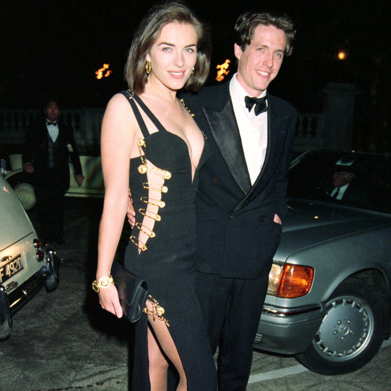 Liz Hurley und das Sicherheitsnadel-Kleid von Versace