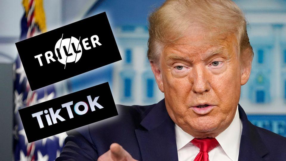 """Streit mit TikTok: Trump inszeniert sich als """"Technik-Profi"""" – doch die Zahlen sprechen eine andere Sprache"""
