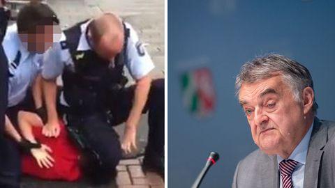 Polizeieinsatz in Düsseldorf; NRW-Innenminister Herbert Reul
