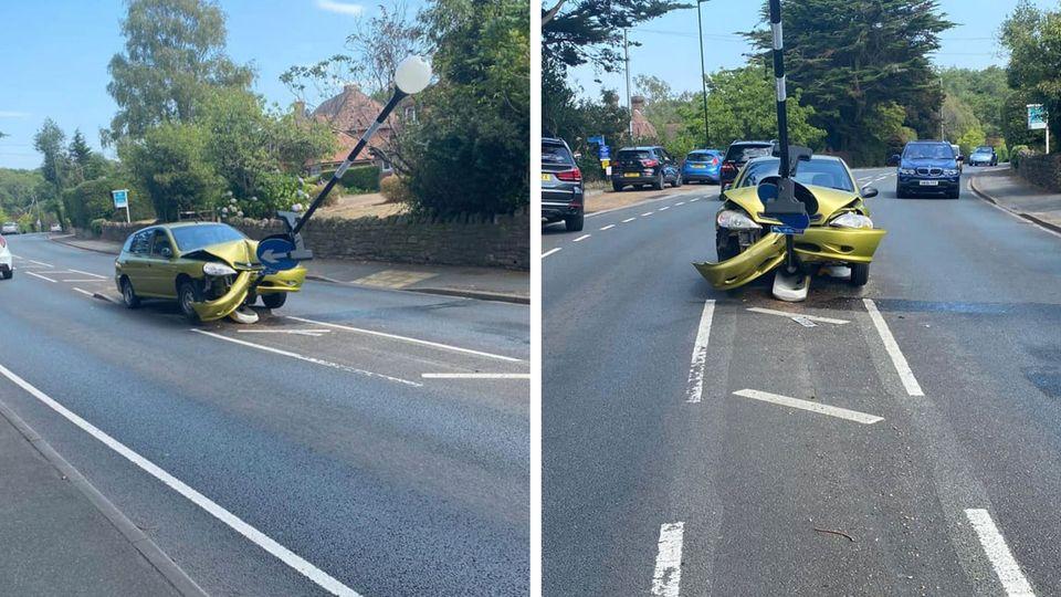 Isle of Wight: Mann entdeckt Spinne im Auto – und fährt in eine Straßenlaterne