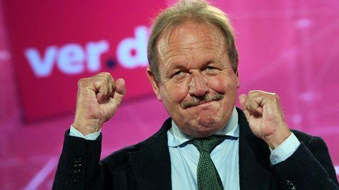 Frank Bsirske, ehemaliger Verdi-Chef, strebt eine Parteikarriere bei den Grünen an