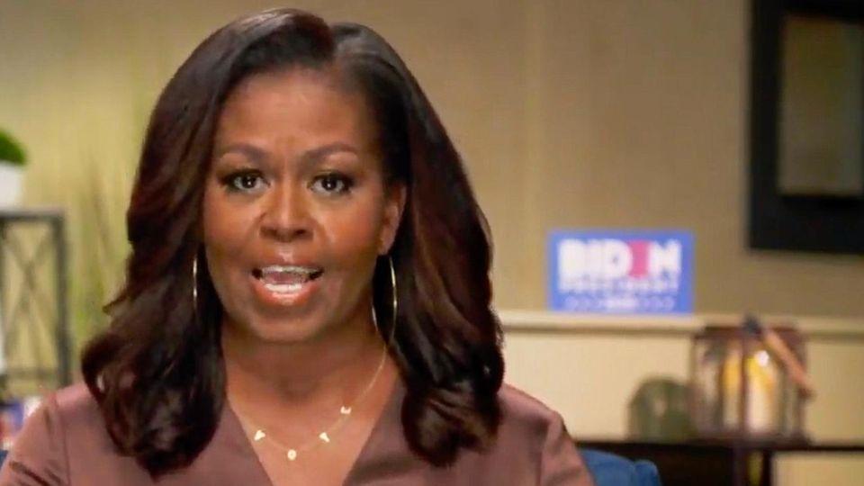 USA: Michelle Obama hält eine Rede am Parteitag der Demokraten.