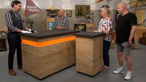 Bares für Rares: Colmar Schulte-Goltz, Horst Lichter und Verkäufer