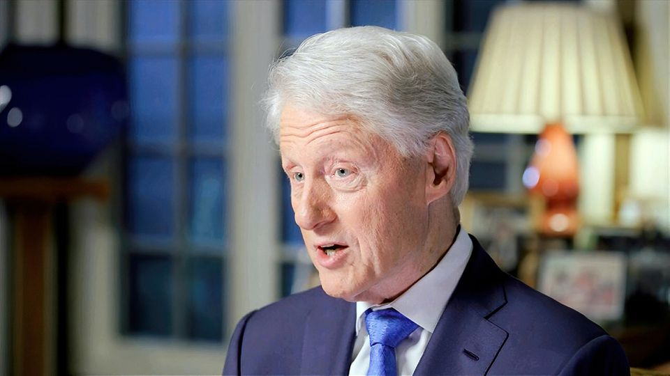 Video-Standbild von Bill Clinton während seiner Rede auf dem Parteitag der Demokraten
