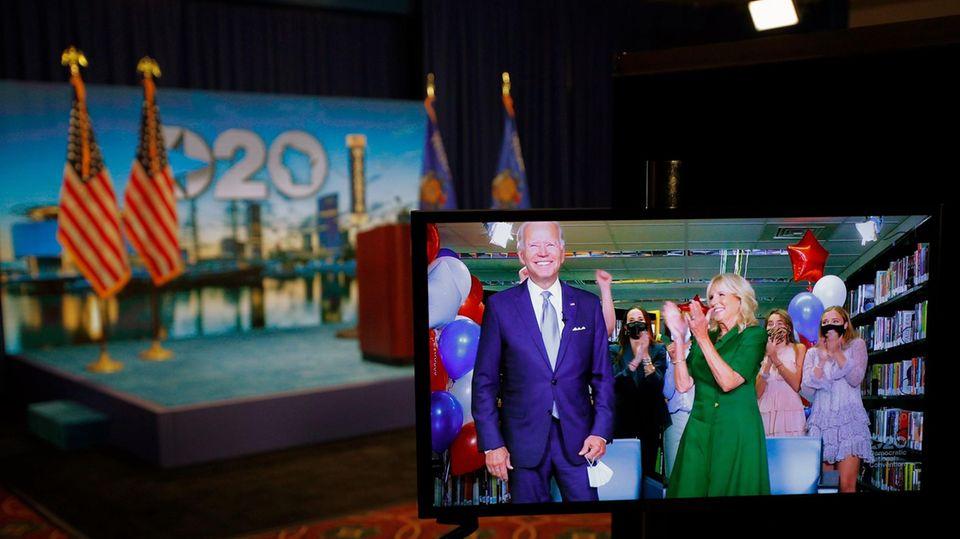 Die US-Demokraten haben Joe Biden offiziell als ihren Kandidaten im Rennen um das Weiße Haus nominiert