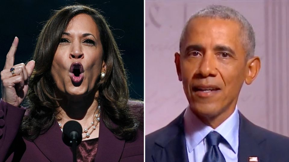 Kamala Harris und Barack Obama