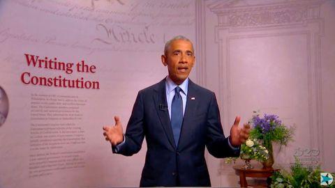 Ex-US-Präsident Barack Obama bei seiner Rede auf dem virtuellen Parteitag der US-Demokraten
