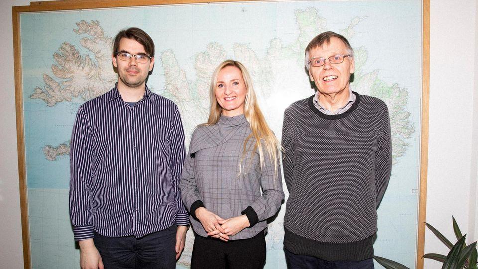 Aðalsteinn Hákonarson, Auður Björg Jónsdóttir und Sigurður Konráðsson