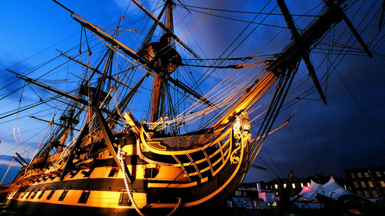 """Der Sieg der """"HMS Victory"""" begründeten die über 100 Jahre andauernde britische Herrschaft über die Meere."""