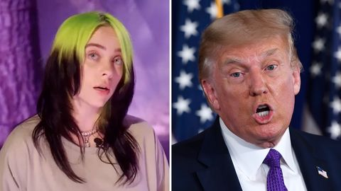 Billie Eilish und Donald Trump
