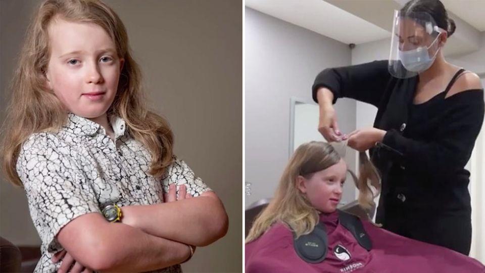 England: Junge lässt sich Haare schneiden und spendet sie für Krebspatienten