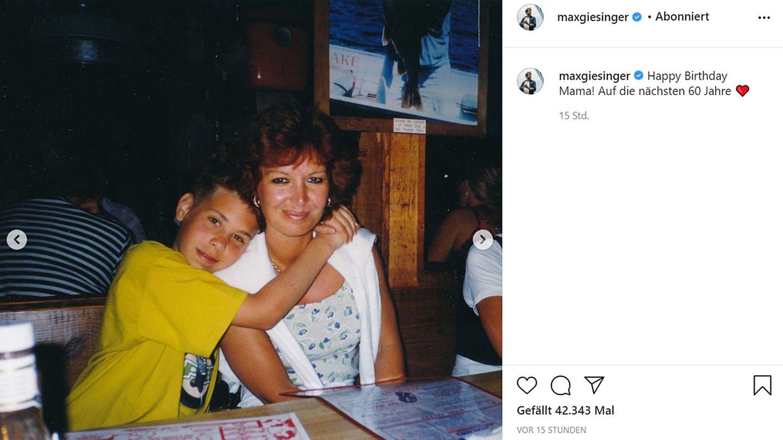 Vip News: Max Giesinger gratuliert seiner Mama zum 60. Geburtstag